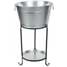 Galvanized Round Party Tub