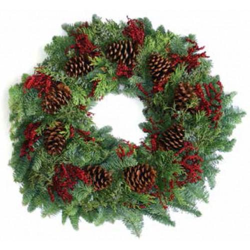 Cone Canella Christmas Wreath