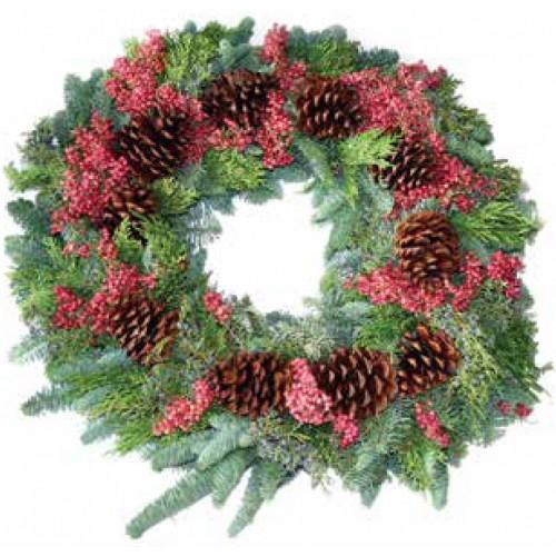 Office Christmas Wreath