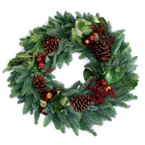 Royal Fruit Christmas Wreath