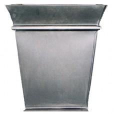 Zinc Short Tapered Square Planter