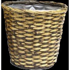 Espresso Rattan Basket