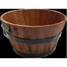 Mahogany Color Round wood basket