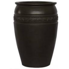 Round fiberglass planter