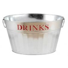 DRINKS Galvanized oval bucket