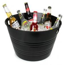 Round black bucket