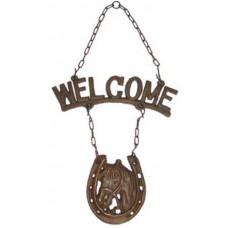 Cast Iron Welcome W/Horseshoe