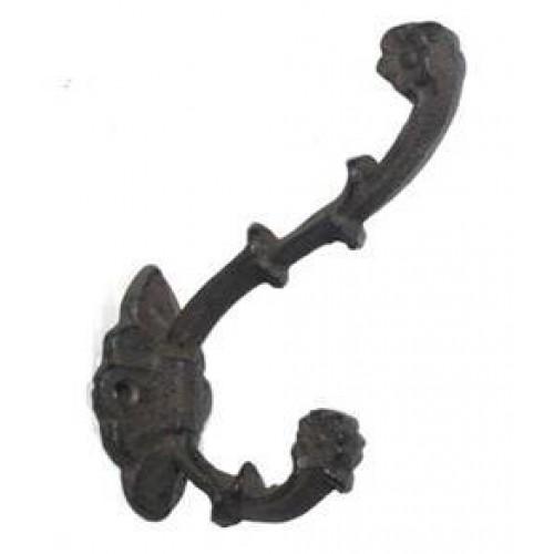 Cast Iron Decorative Double Hook
