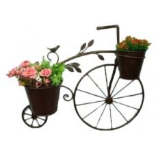Metal hanging tricycle planter