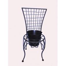 Metal chair planter