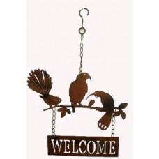 Metal birds welcome hanging Decor