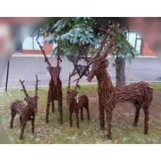 """54"""" Brown Vine Deer"""