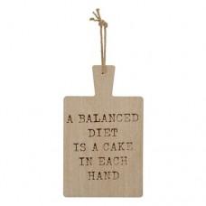 Cutting Board a Balanced Diet