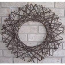 Round twig wreath/trellis