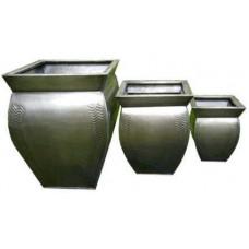 Apex Square Dark Titanium Zinc Planters