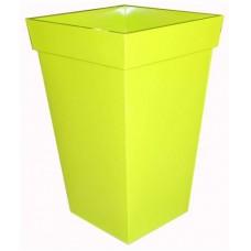 Green square zinc planter