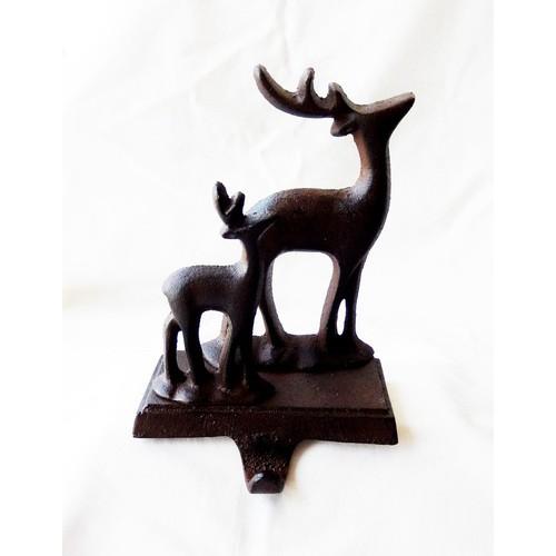 Cast Iron Deer Stocking Hanger