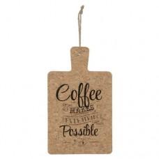 Coffee cutting board wall
