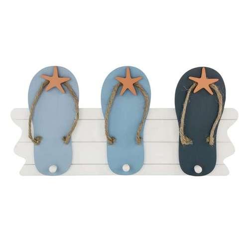 Blue Flip Flop Wall Hooks